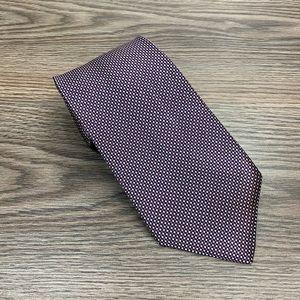 Brooks Brothers Navy, Mauve & White Check Tie